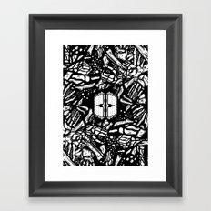 Broken bones, angry fists Framed Art Print