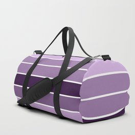 Lavender Purple Stripes Duffle Bag