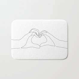 Hand Heart Bath Mat