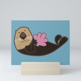 Smart Otter Mini Art Print