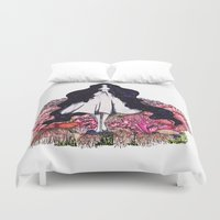 underwater Duvet Covers featuring Underwater by The Blck Pen