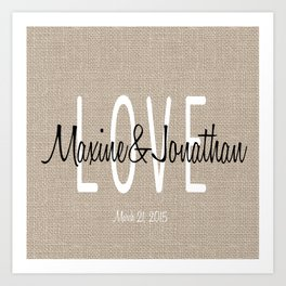 Love & wedding Art Print