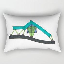 Abstract Geometric Tent Spaceship106 Rectangular Pillow