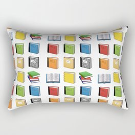 Book Emoji Pattern Rectangular Pillow