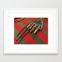 freddy krueger Framed Art Prints featuring Freddy Krueger by Rachel Bradford