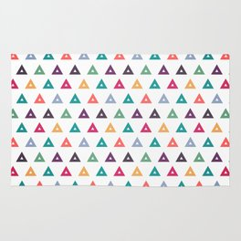 Colorful triangle seamless pattern design background Rug