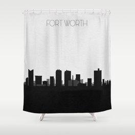 City Skylines: Fort Worth Shower Curtain