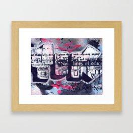 Yok 9 Lines Throwie Framed Art Print