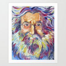 Jerry Garcia Art Print