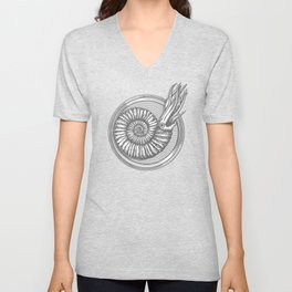 AMMONITE COLLECTION GRAY Unisex V-Neck