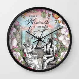 Excellent Library - Pride and Prejudice Wall Clock