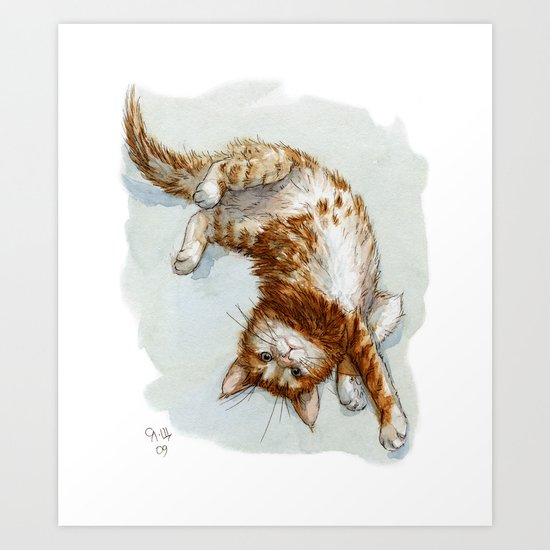 Ginger Kitten A062 Art Print