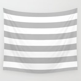 Gray and White Stripes Wall Tapestry