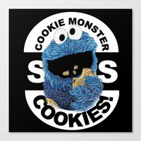 cookies Canvas Prints featuring COOKIES! by SwanniePhotoArt