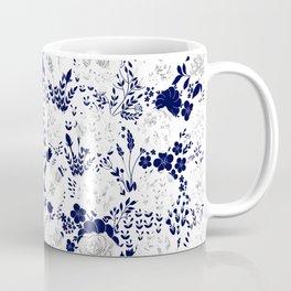 Star Sapphire Floral Celebration Moonlight Blue Rose Coffee Mug
