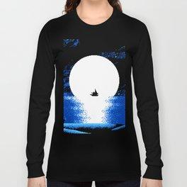 Gazing the Moon at the Celestial Seashore Long Sleeve T-shirt