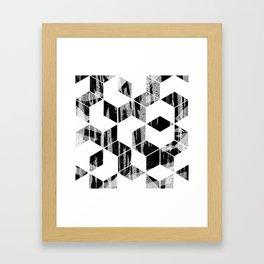 Elegant Black and White Geometric Design Framed Art Print