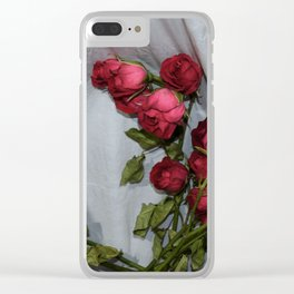 Trash Can Bouquet Clear iPhone Case