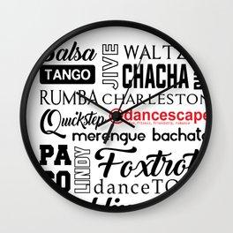 dance @danceScape Wall Clock