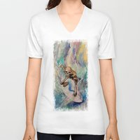 surfer V-neck T-shirts featuring Surfer by Michael Creese