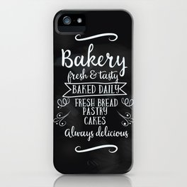 Bakery Chalkboard poster iPhone Case
