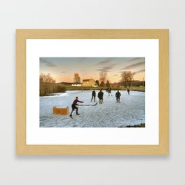 Amish Winter  Framed Art Print