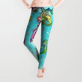 Watercolor Mermaids Leggings