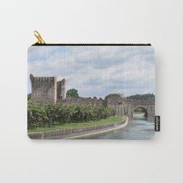 Scenic view of the Visconti bridge with vineyards Carry-All Pouch