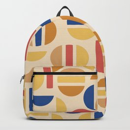Mid Century Mod Half Circle Pattern Backpack