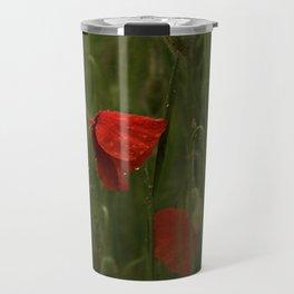 Red Poppies at Dusk Travel Mug