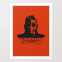 starlord Art Prints featuring Starlord by bookotter