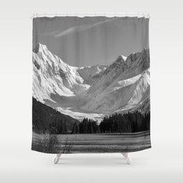 Alaskan Mts. ~ Mono II Shower Curtain