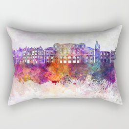 Bilbao skyline in watercolor background Rectangular Pillow