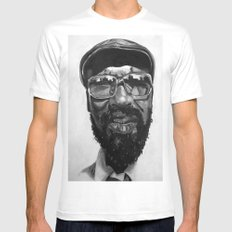 monk White MEDIUM Mens Fitted Tee