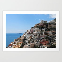 Town Of Positano, Amalfi Coast Art Print