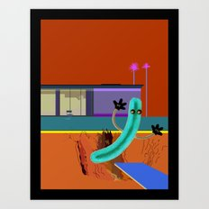 With Apologies to Hockney Art Print