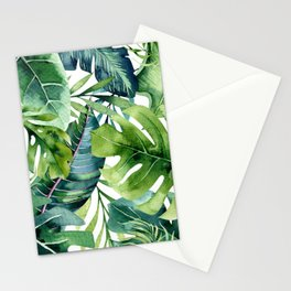 Tropical Jungle Leaves Stationery Cards