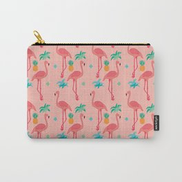 Flamingo Pineapple Pattern Carry-All Pouch