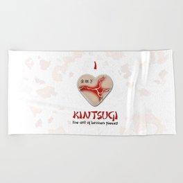 i love kintsugi Beach Towel