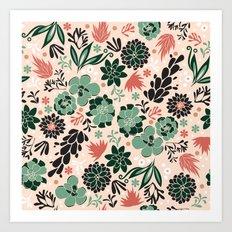 Succulent flowerbed Art Print