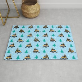 Snowmobile Pattern Rug