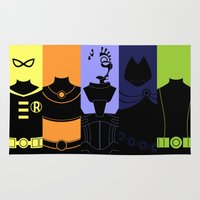 teen titans Area & Throw Rugs featuring Vector Titans by Hybryda
