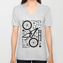 "Downhill Bike Parts ""Session"" Unisex V-Neck"