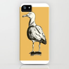 Sebastian Seagull - Ink Pen Line Drawing iPhone Case