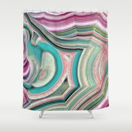 Colorful agate Shower Curtain