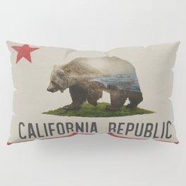 California Grizzly Bear Flag Pillow Sham