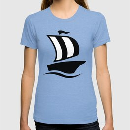 Sea Ship Sailing Icon T-shirt