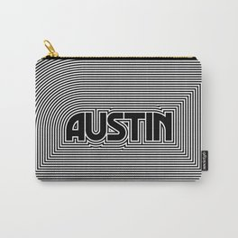 Austin City Text Pattern USA Carry-All Pouch
