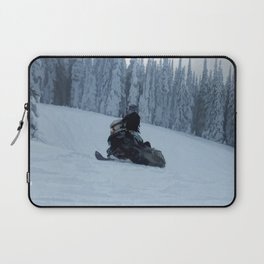 Snowmobiling Fool Laptop Sleeve
