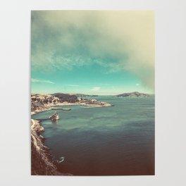 San Francisco Bay from Golden Gate Bridge Poster